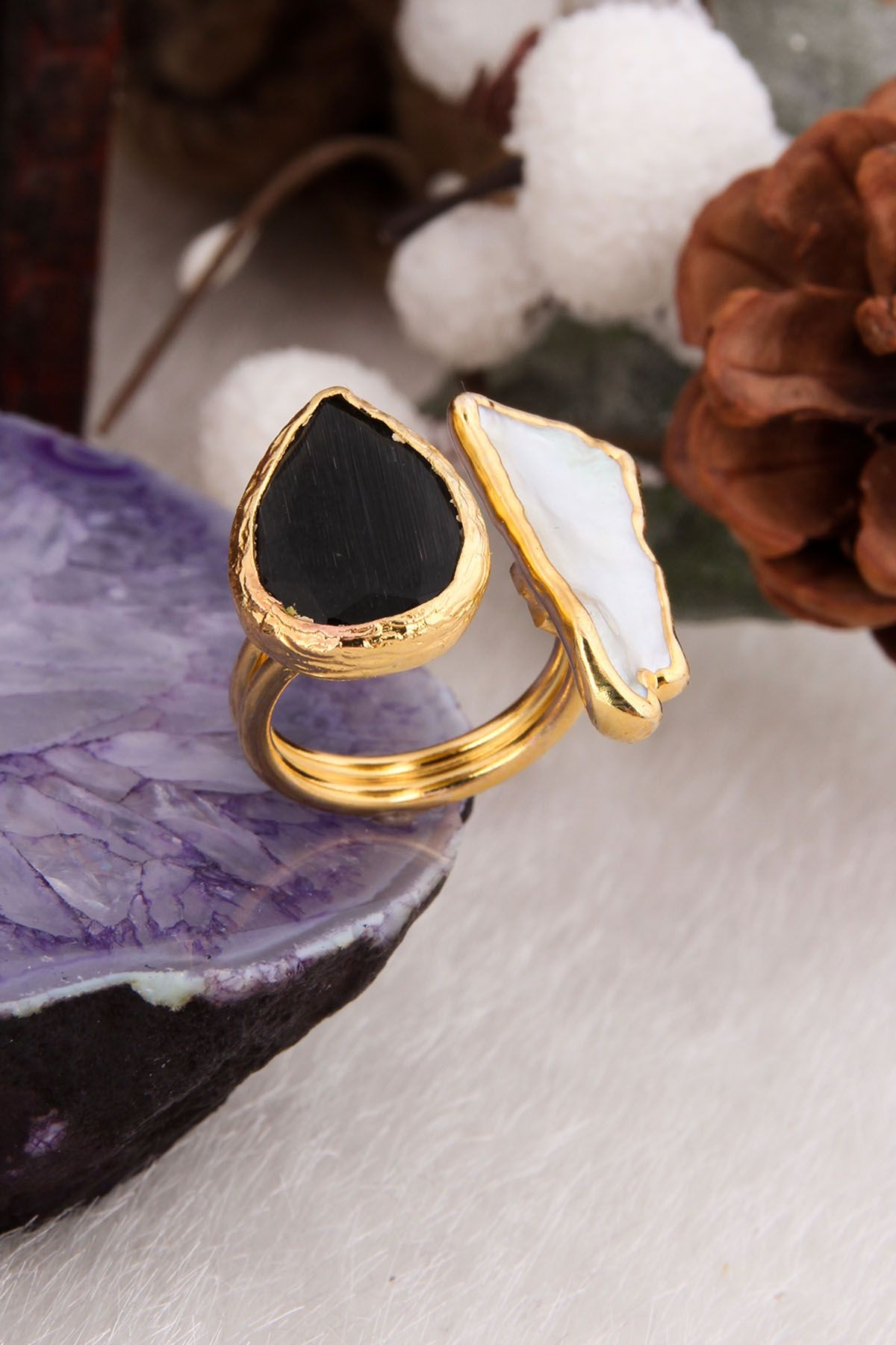 Zircon & Pearl Ring