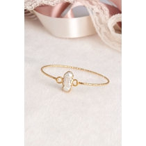 14K Gold-Plated Bronze & Pearl
