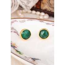 14K Gold-Plated Bronze & Agate