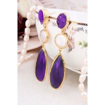 Pearl & Zircon Earring