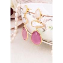 Moonstone & Zircon Earring