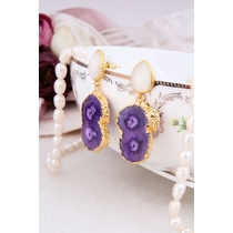 Moonstone & Quartz Earring