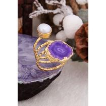 Quartz & Pearl Ring
