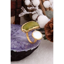 Agate & Pearl Ring