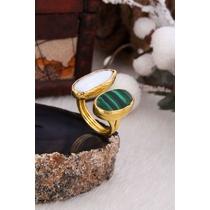 Malahite & Pearl Ring