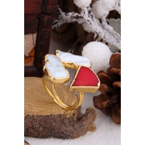 Pearl & Coral  Ring