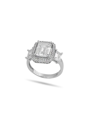 Solitaire Baget Ring