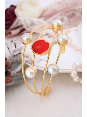 Pearl & Coral Bracelet