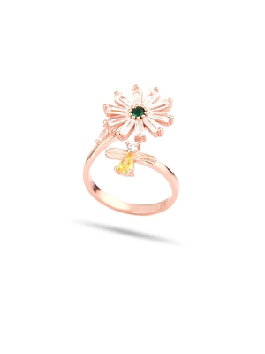 Buterfly And Flower Ring